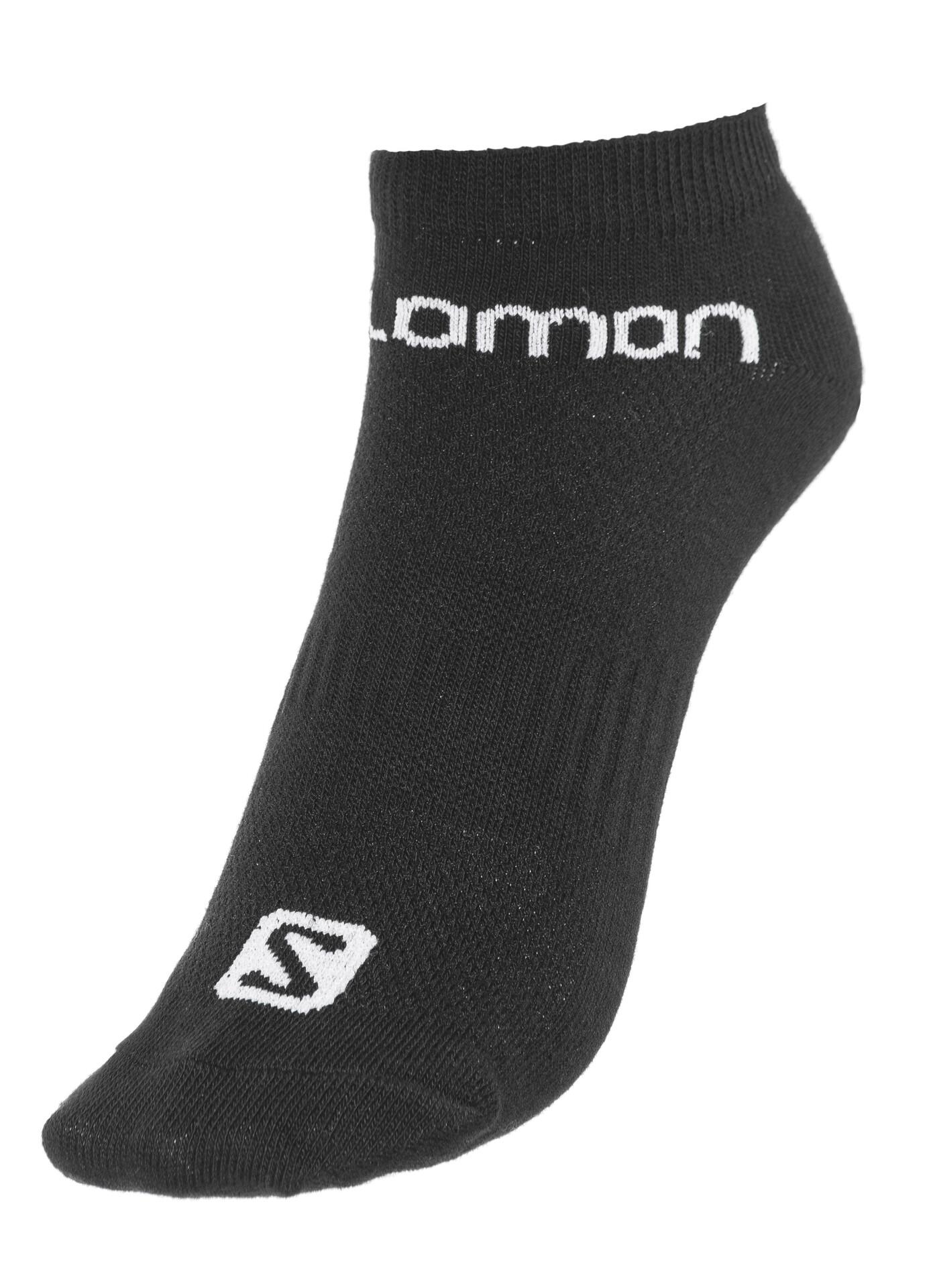 Salomon Life Low Socken 3er Pack white + black + grey